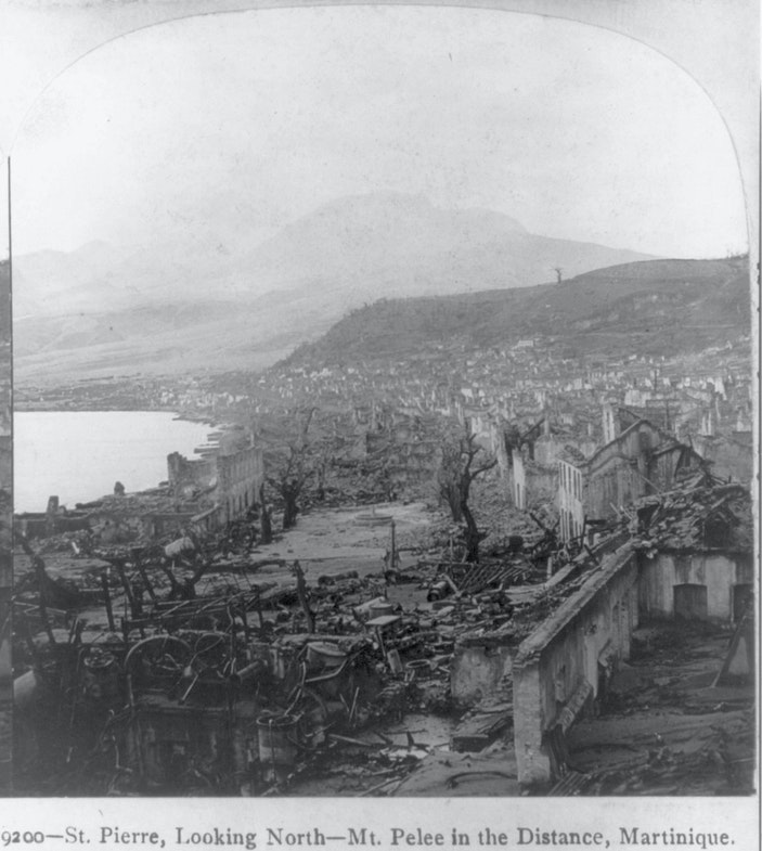 Martinique - St. Pierre - volcanic eruption 1902