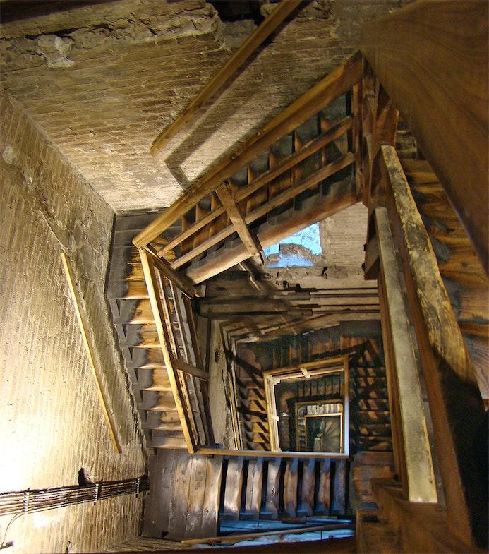 Bologna, Emilia-Romagna, Italy. Inside the Asinelli Tower