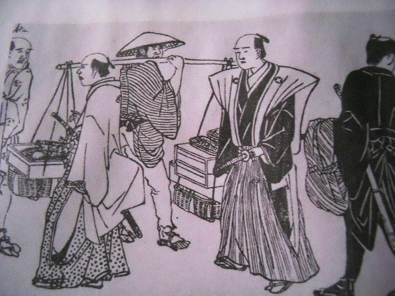 Gosi and peasants picture Edo era