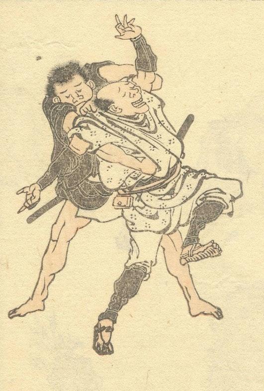 ninja from a series of sketches (Hokusai manga) by Hokusai