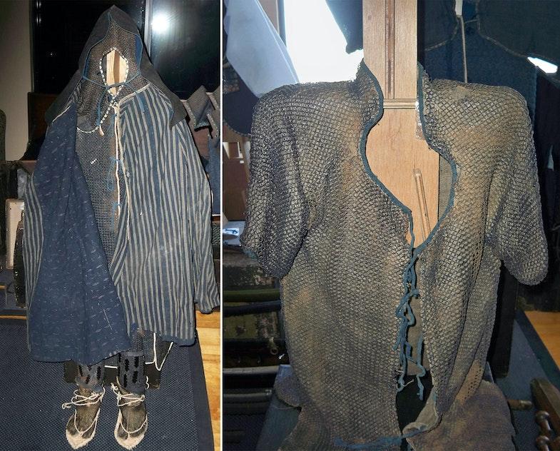 Antique Edo period Japanese chain mail jacket or kusari katabira
