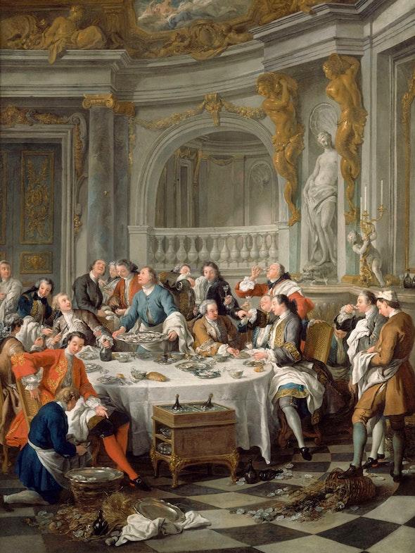 Jean-Francois de Troy Eating Oysters
