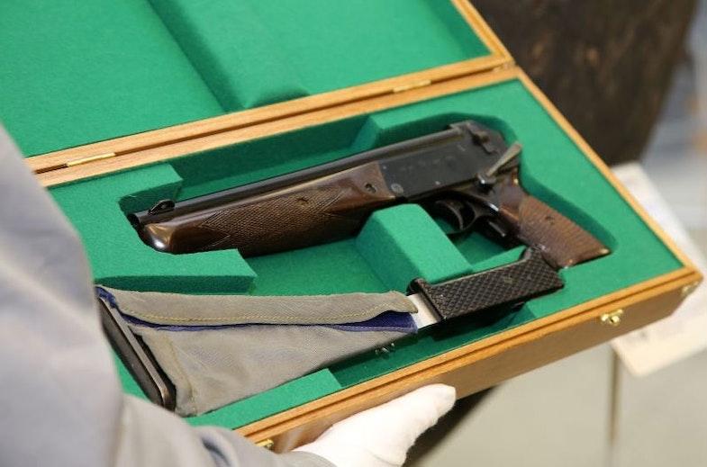 Triple-barreled TP-82 pistol