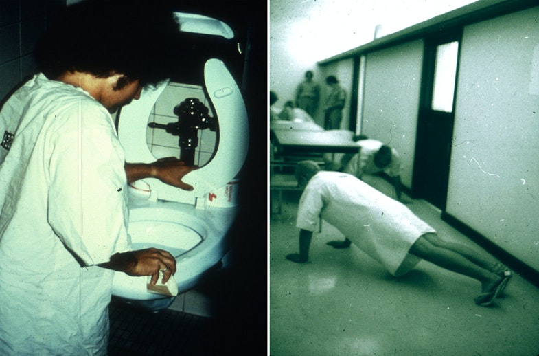 Stanford Prison Experiment Cleaning a Toilet as Punishment Endless Pushups