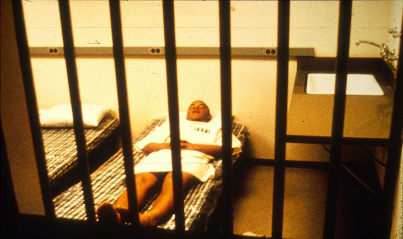 Prisoner Resting in Cell Stanford Prison Experiment