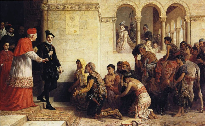 Edwin Longsden Long, The Suppliants: Expulsion of the Gypsies from Spain