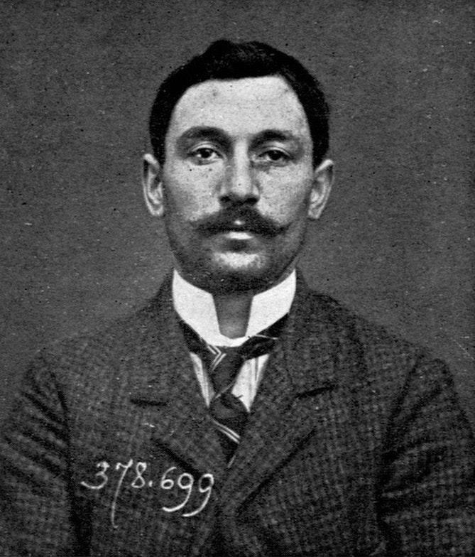 A police photograph of Vincenzo Peruggia in 1911