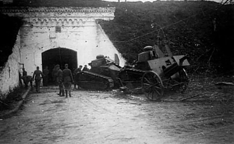 Polish technique captured in the Brest Fortress