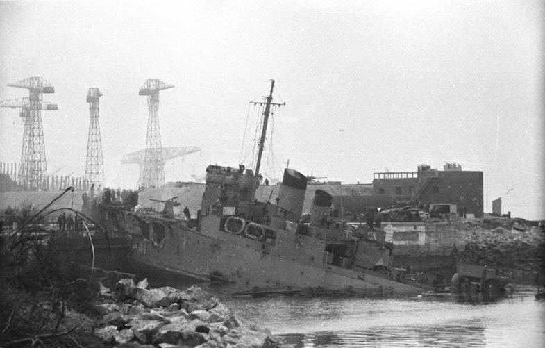 HMS Campbeltown at St Nazaire