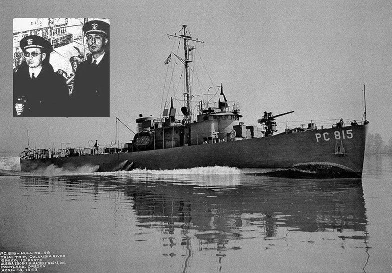 The USS PC-815, Hubbard's second and final command