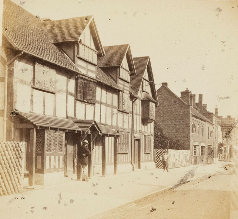 Shakespeare's birthplace, Henley Street, Stratford On Avon, Ernest Edwards, 1863