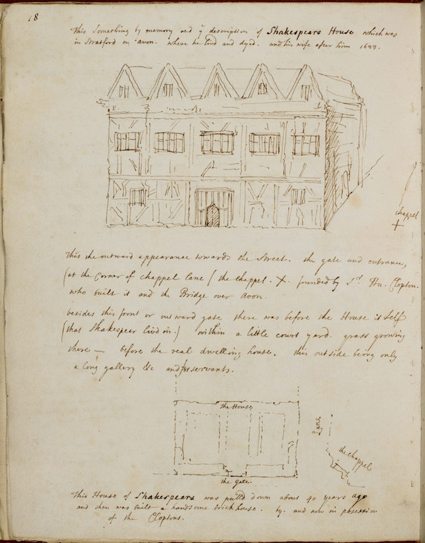 In 1597, two years before the Globe Theatre was built, Shakespeare's success in London financed the purchase of New Place, a house in his native Stratford-upon-Avon