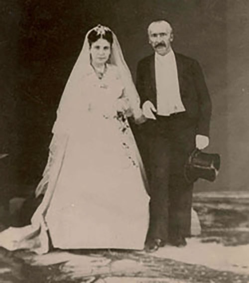 Sophia and Heinrich Schliemann, Marriage in Athens, 1869
