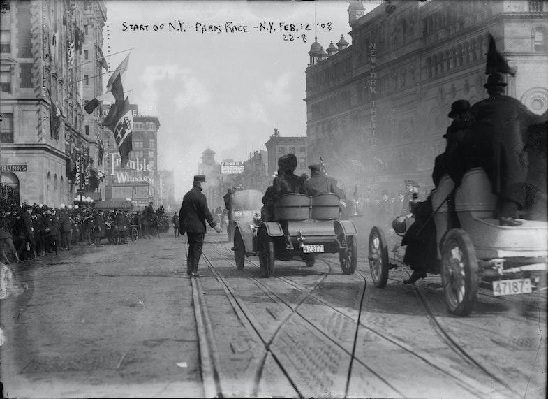 Start of the 1908 New York to Paris Race