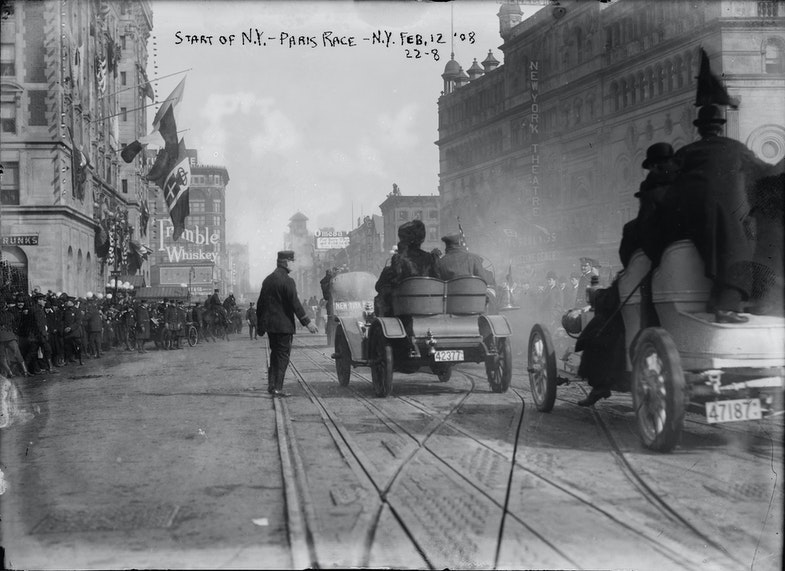 Start of the 1908 New York to Paris Race
