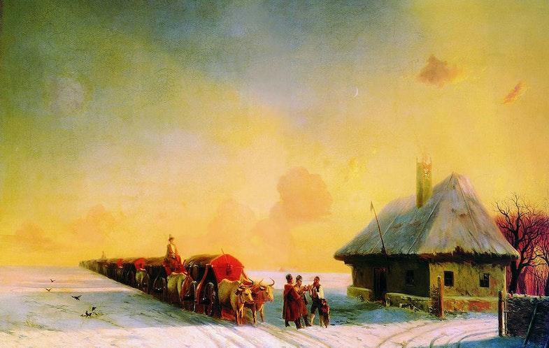Aivasovsky Ivan Constantinovich - Chumaks in Little Russia