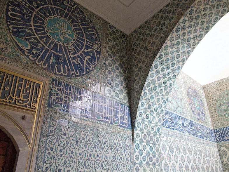 Iznik tile work in the Harem of Topkapi Palace