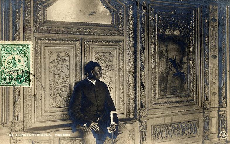 Chief Black Eunuch of the Ottoman court; Photo, 1912.