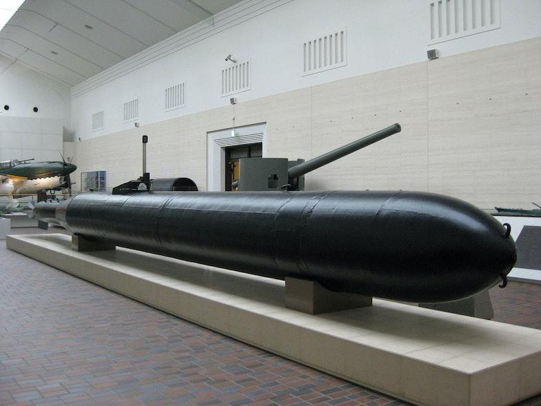 Kaiten, Type 1 on display at the Yūshūkan