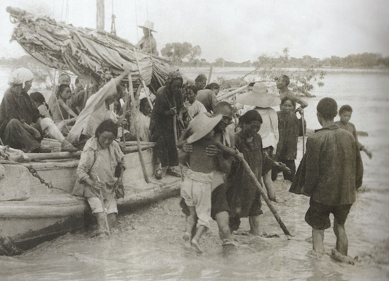 Yellow River flood refugees