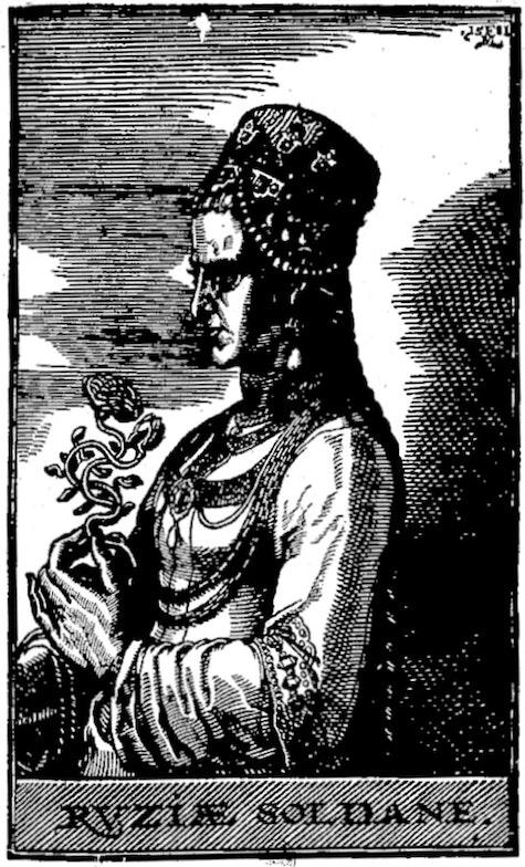 Portrait of Haseki Hürrem Sultan, known as Roxelana, wife of Süleyman I