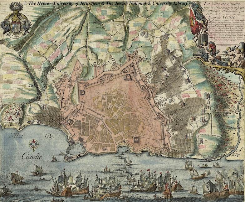La Ville de Candie pour la 3e fois attaquée de L'Armée Ottomane et deffedue par Celle de la Serenissime Rep. de Venise