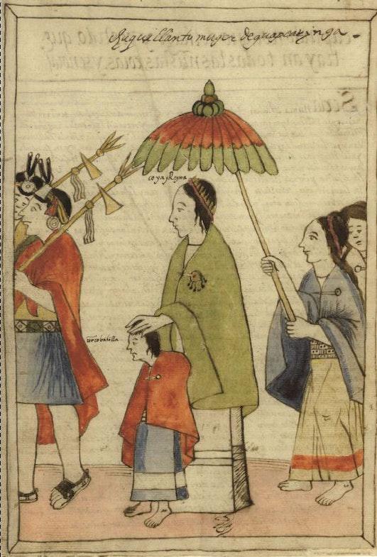 Illustration of Huascar Inca from ''Historia y Genealogia Real de los Reyes Incas del Peru