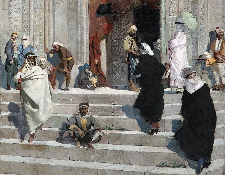 Scene near the Green Mosque, Osman Hamdi Bey