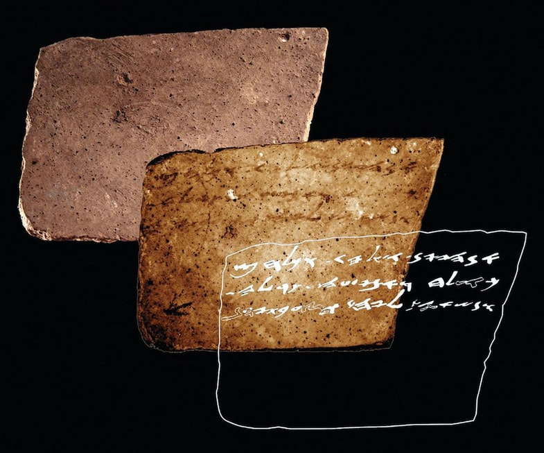 A previously overlooked inky inscription on a pottery shard found in Israel calls for the delivery of more wine