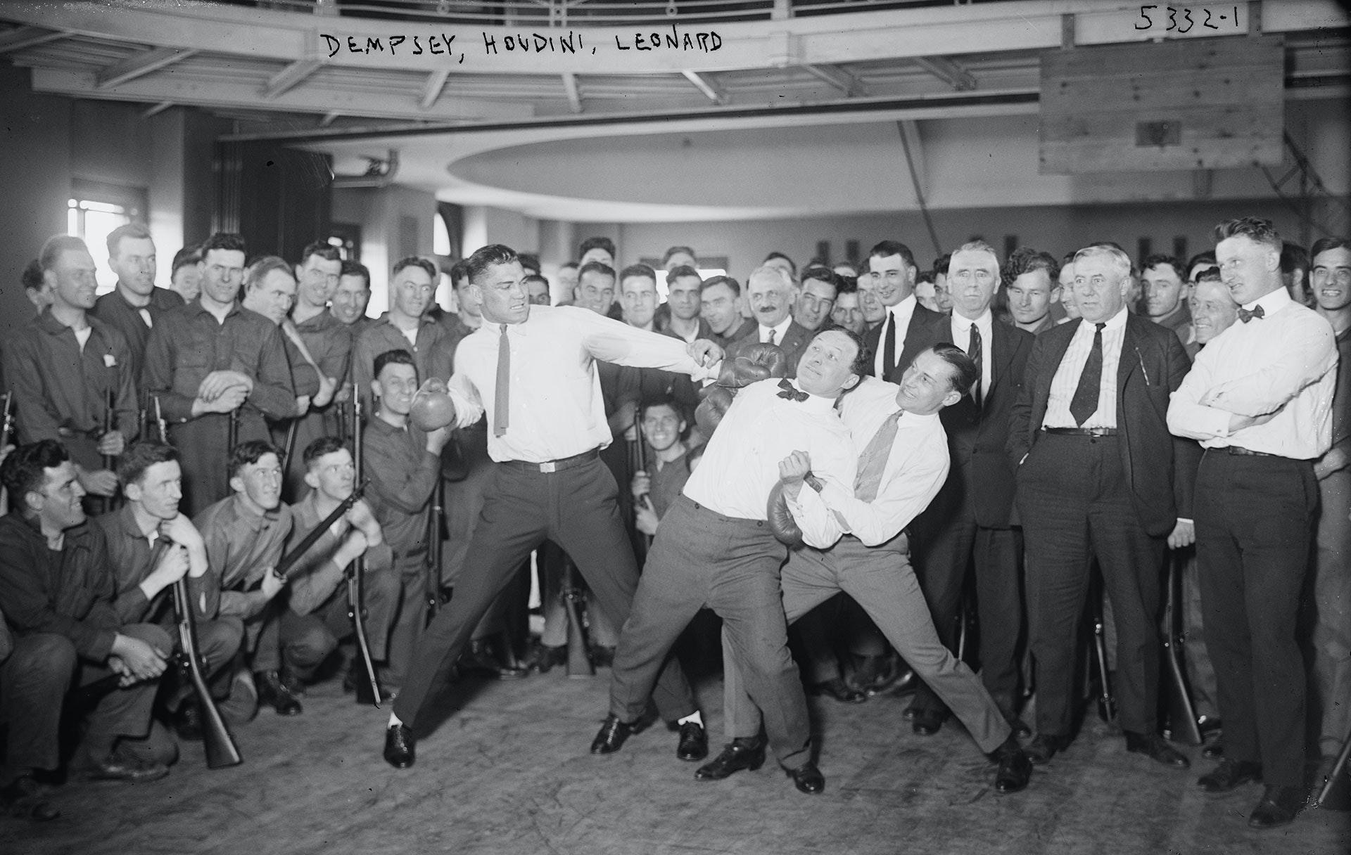 Dempsey, Houdini, Leonard (boxing)