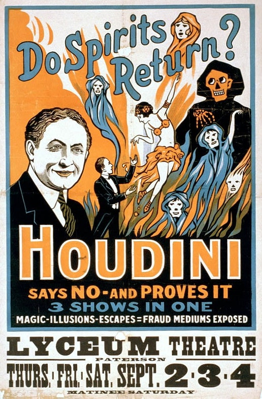 Harry Houdini Secrets of mediums