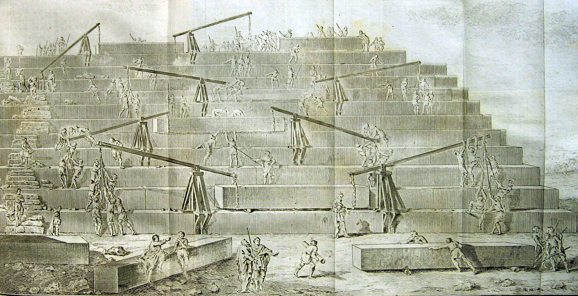 construction of the pyramids Herodotus