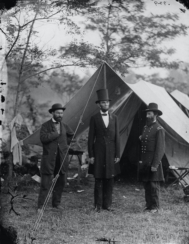 Antietam, Md. Allan Pinkerton, President Lincoln, and Maj. Gen. John A. McClernand