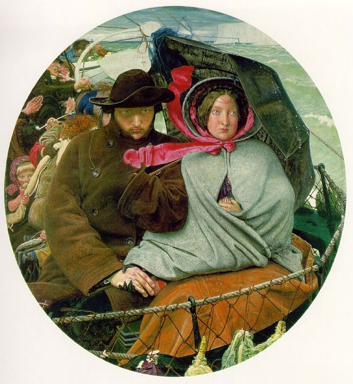 The Last of England depicting an emigrating couple, 1855
