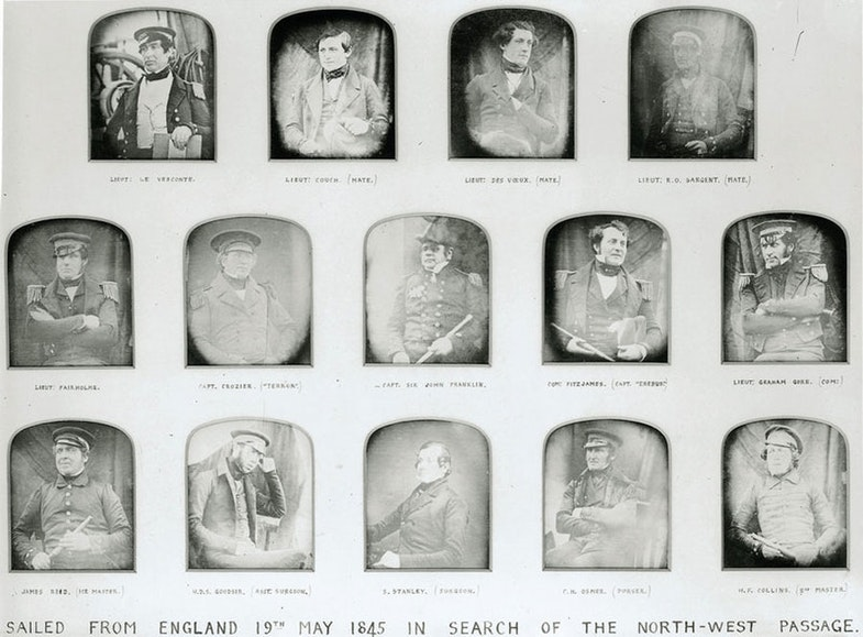 Officers who sailed in search of the North-West Passage