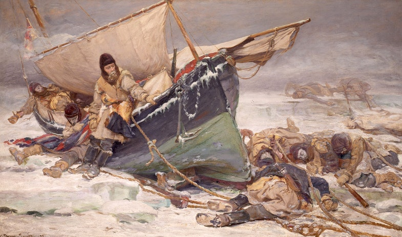 They forged the last links with their lives: Sir John Franklin's men dying by their boat during the North-West Passage expedition