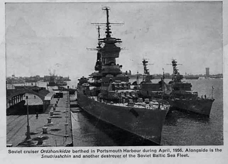 The Ordzhonikidze cruiser Portsmouth April 1956