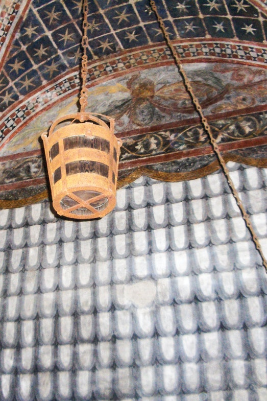 The stolen bucket, inside the Ghirlandina Tower