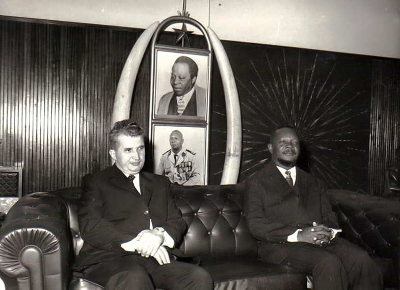 Ceausescu visit in Central-African Republic