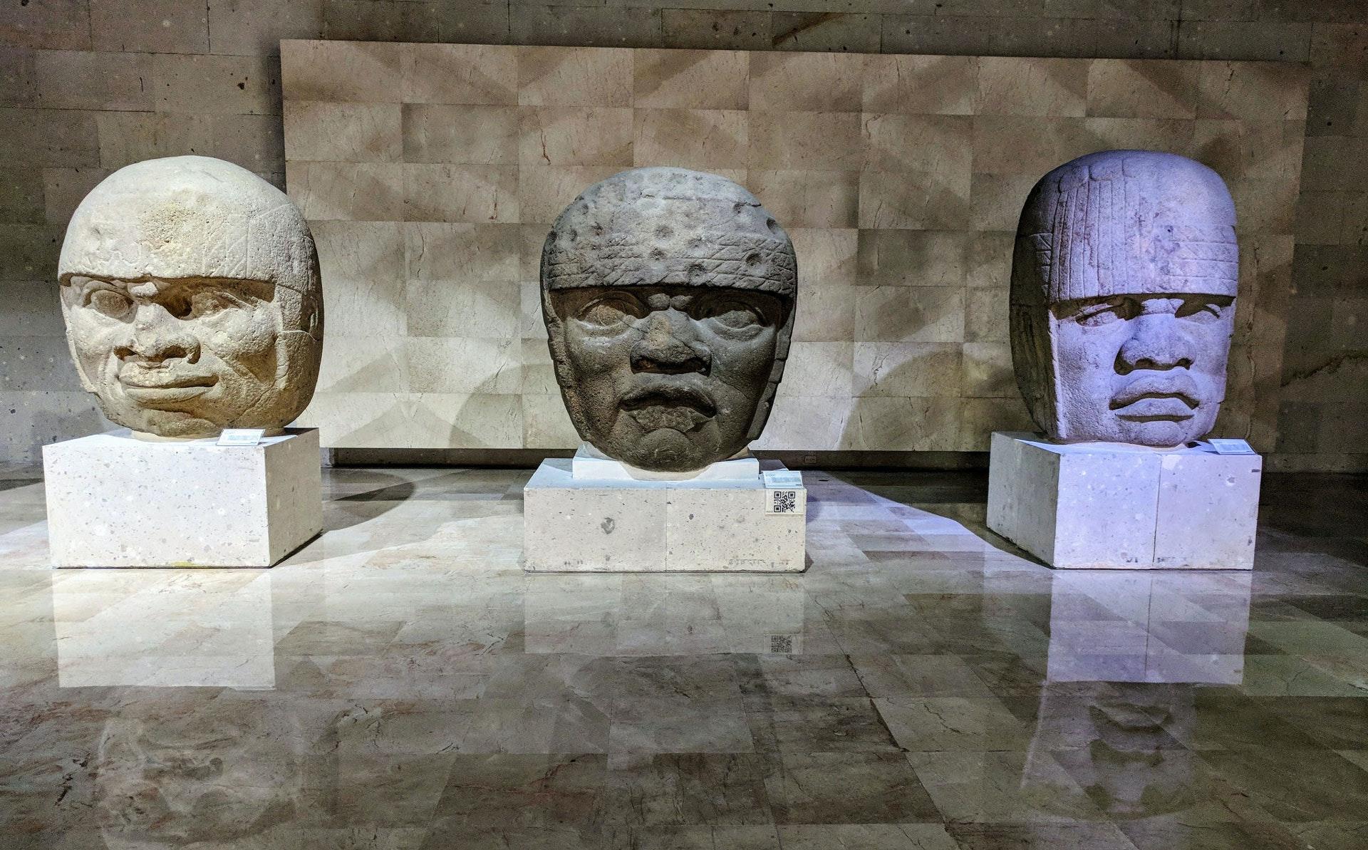 Olmecs heads