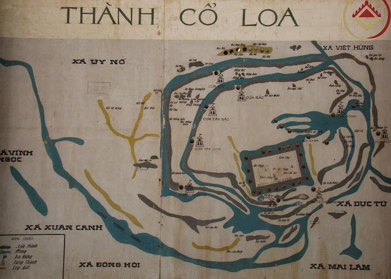 Cổ Loa Citadel map