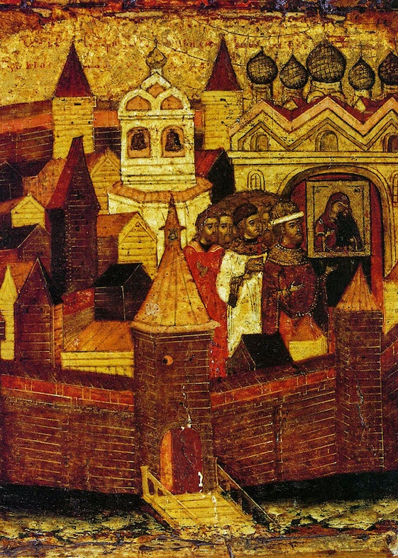 The Yaroslavl Kreml. Margin image of the icon