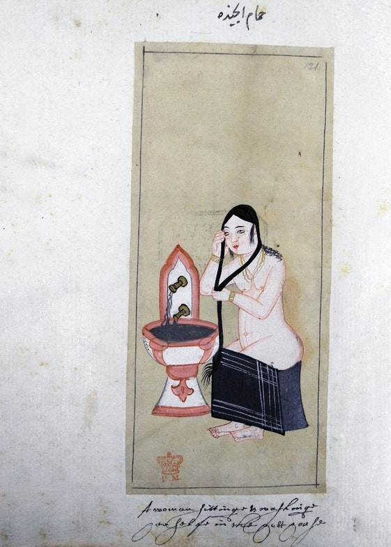 Woman in a hammam. The Habits of the Grand Signor's Court