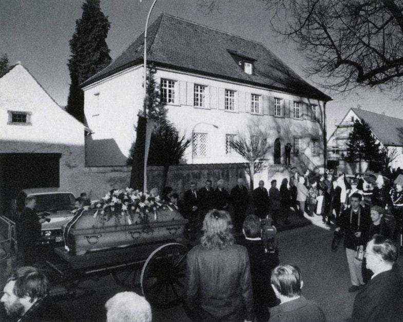 Junger funeral, Wiflingen, 21 february 1998